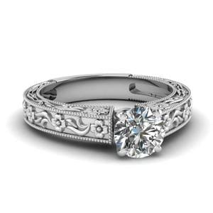 Solitaire Filigree Ring