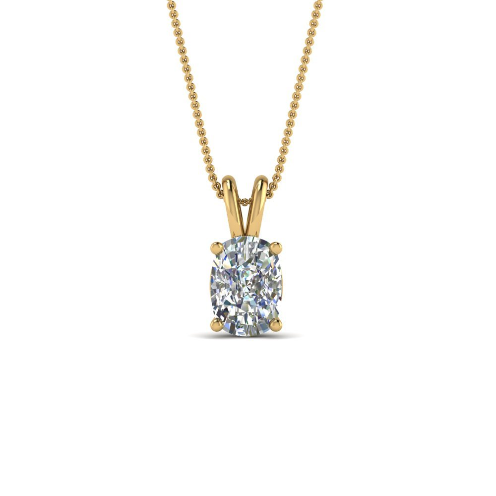 1 Ct. Cushion Single Diamond Pendant