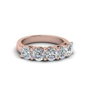 18K Rose Gold Diamond Anniversary Band