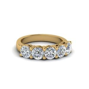 1 Ct. Diamond Anniversary Band Gifts In 14K Yellow Gold