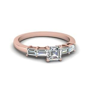 Asscher Cut Baguette Ring 1 Ct.