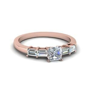 Baguette Princess Cut Diamond Ring