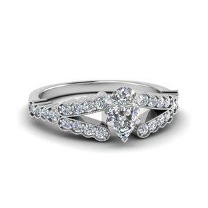 1 Ct. Diamond Milgrain Pave Ring