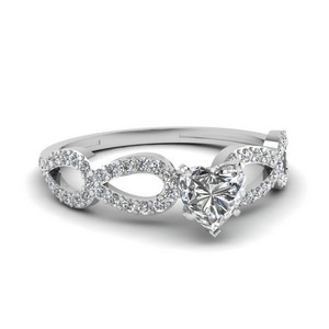 Platinum Heart Cut Engagement Rings