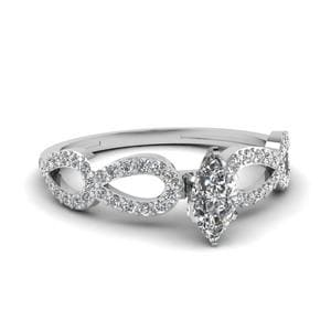 1 Ct. Diamond Loop Engagement Ring