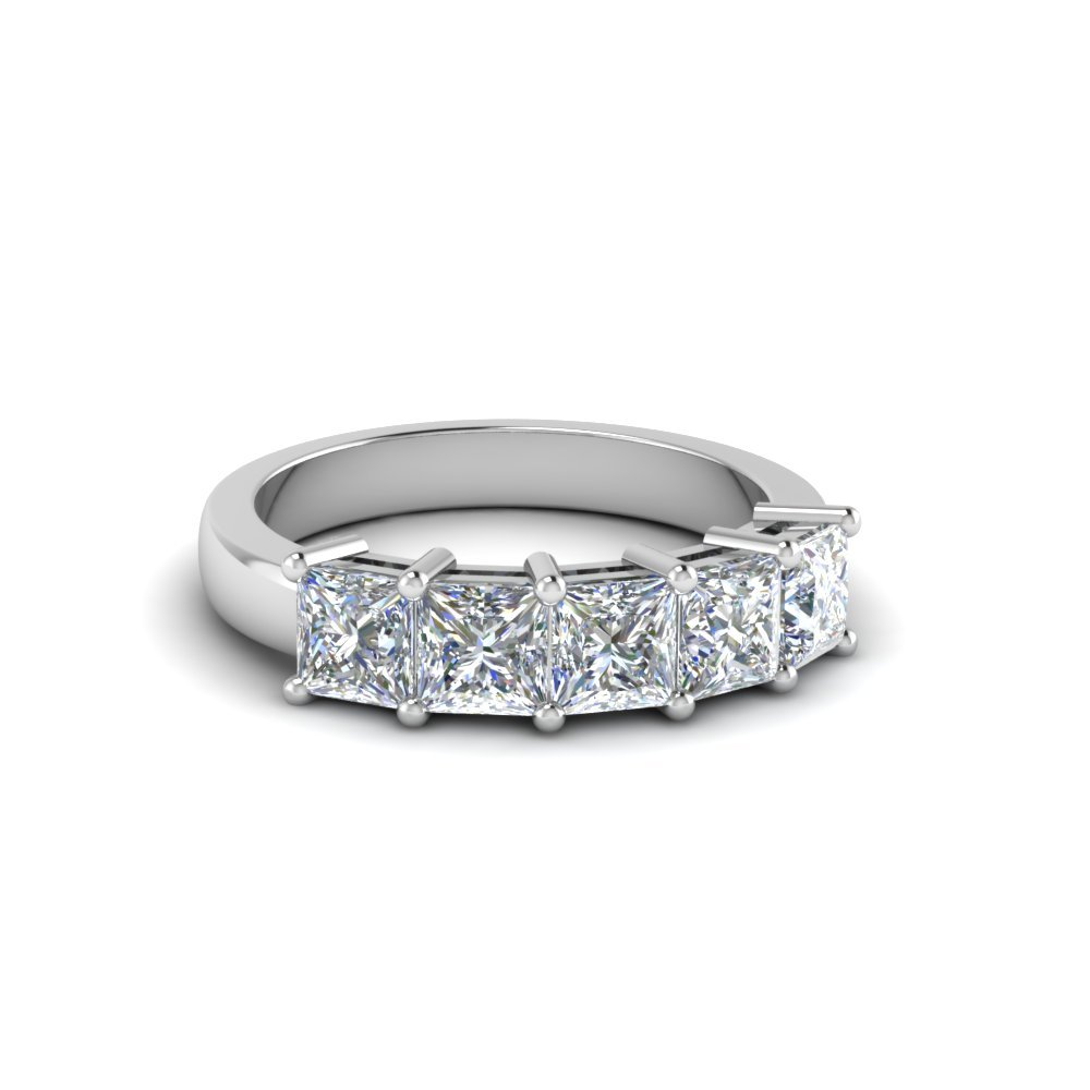 1 Ct. Princess Cut 5 Stone Ring