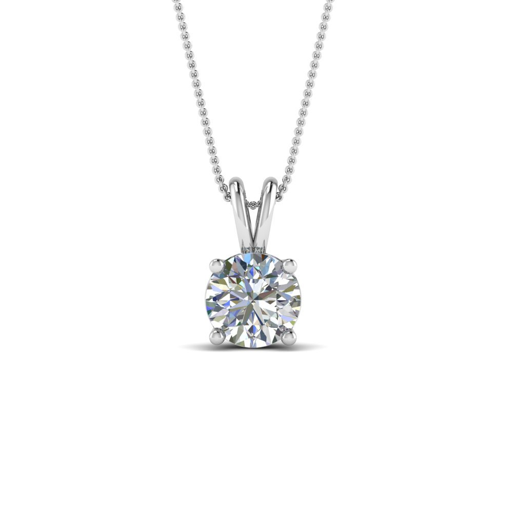1 Ct. Round Cut Diamond Pendant