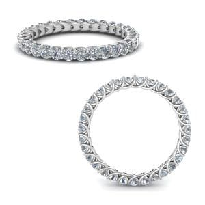 1 Ct. Round Cut Diamond Trellis Eternity Ring In 14K White Gold