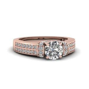 1 Ct. Diamond Pave 2 Row Ring