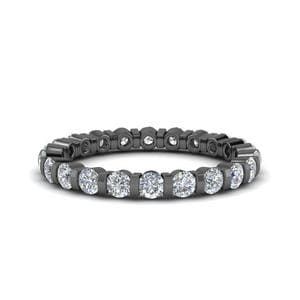 Single Row 1 Ct. Round Diamond Band