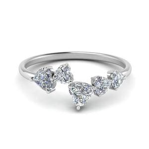 1.10 Carat Heart Diamond 5 Stone Ring
