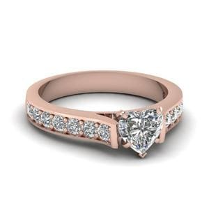 1.25 Carat Heart Diamond Pave Accent Ring