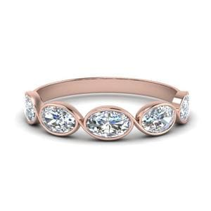 1.25 Ct. Oval Diamond Bezel Set Band