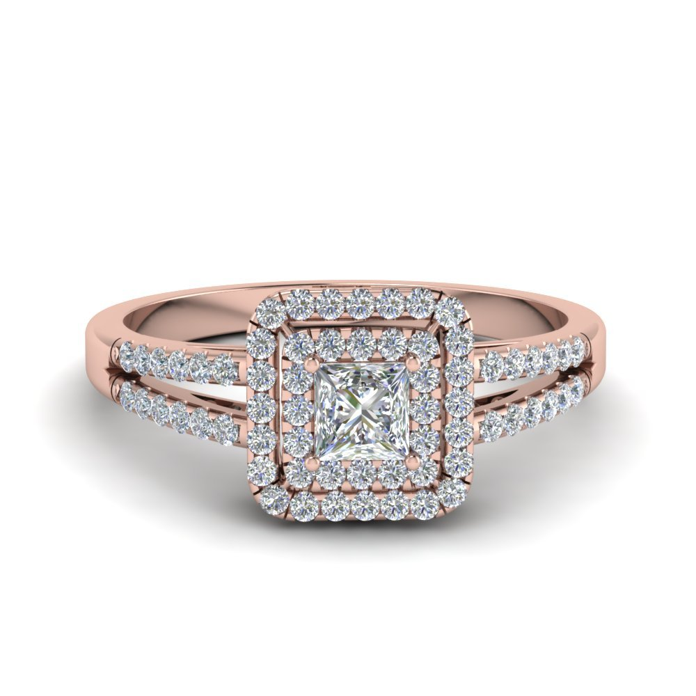 rose gold vintage wedding rings