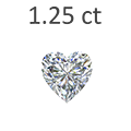 1.25 Carat Heart Shaped Diamond