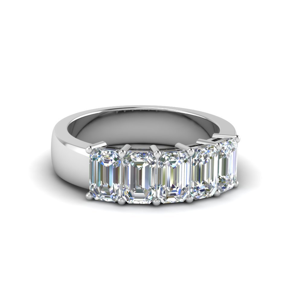 1.5 Ct. Emerald Cut Diamond Anniversary Ring