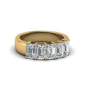 1.5 Ct. Emerald Cut Band