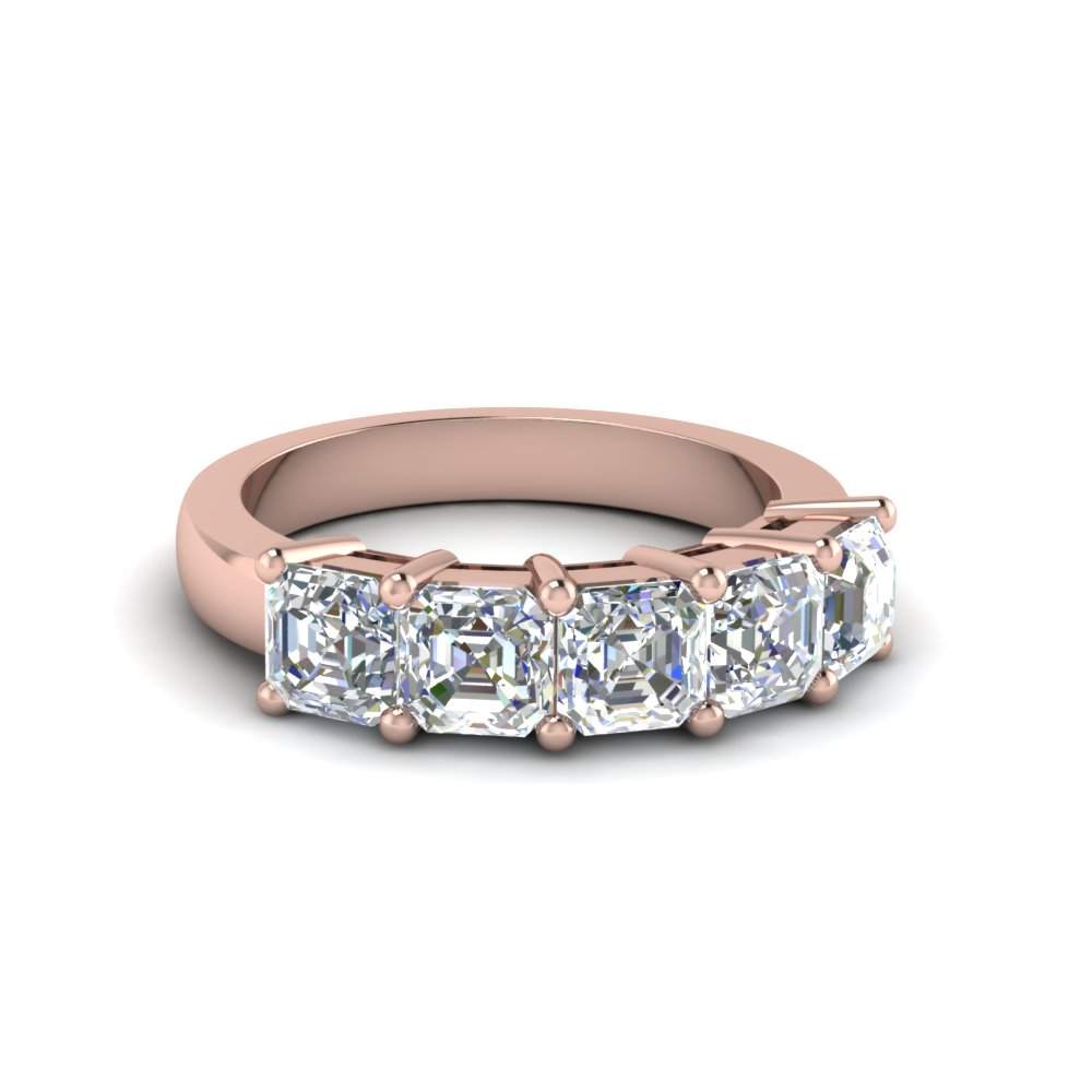 18K Rose Gold Asscher Cut Ring