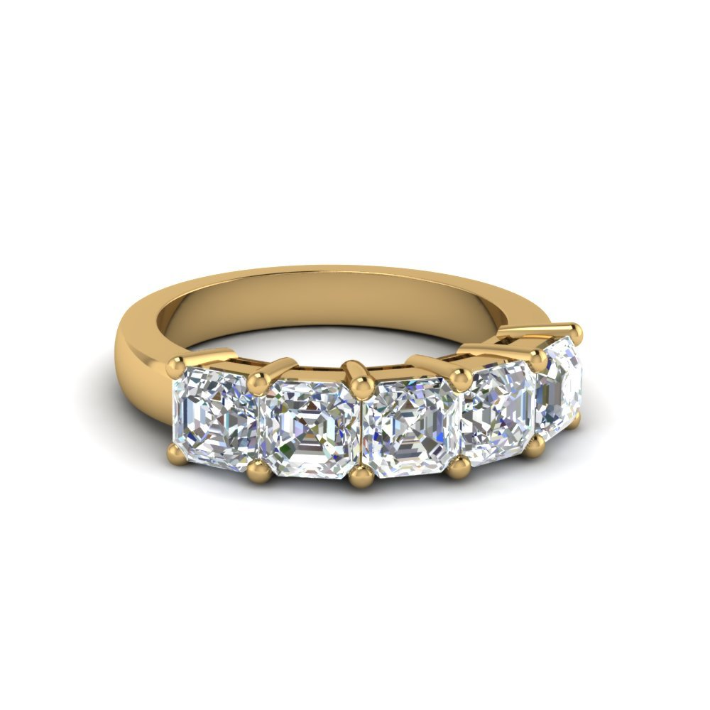 14K Yellow Gold Anniversary Ring