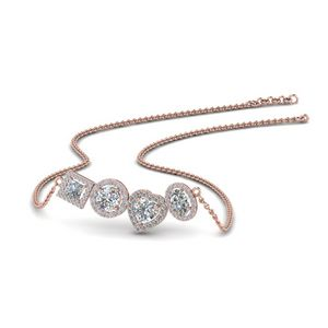 1.50 Ct. Diamond Halo Necklace