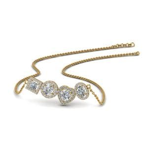 1.50 Carat Diamond Halo Necklace