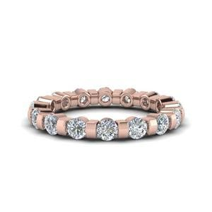 1.50 Ct. Diamond Single Row Eternity Ring In 14K Rose Gold