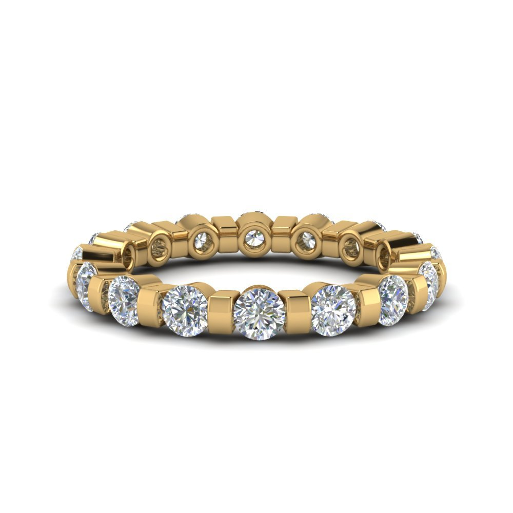 1.50 Ct. Diamond Single Row Eternity Ring In 14K Yellow Gold