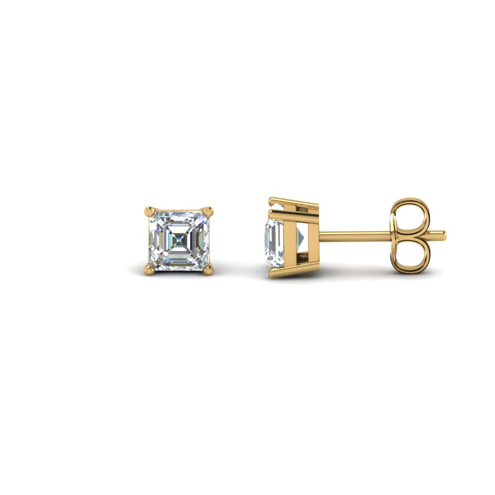1.50 Karat Asscher Cut Diamond Earring