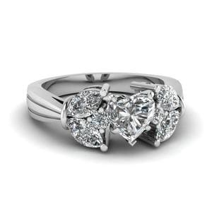 1.50 Carat Diamond Petal Ring
