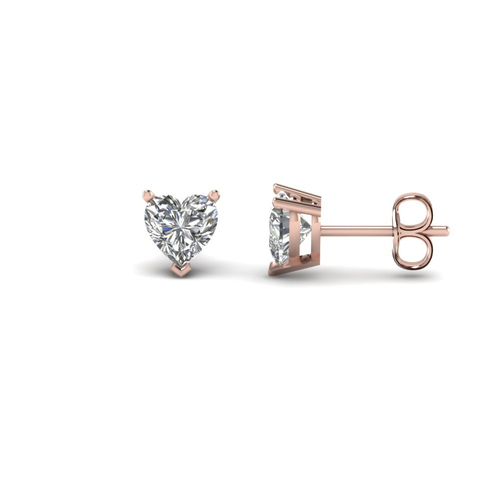 1.50 Ct. Heart Diamond Earring For Women