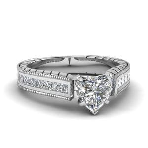 1.50 Ct. Diamond Cathedral Vintage Ring