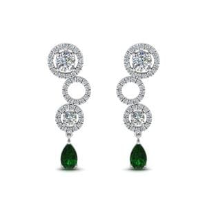 Sterling Silver 1.50 Ct. Diamond Earring