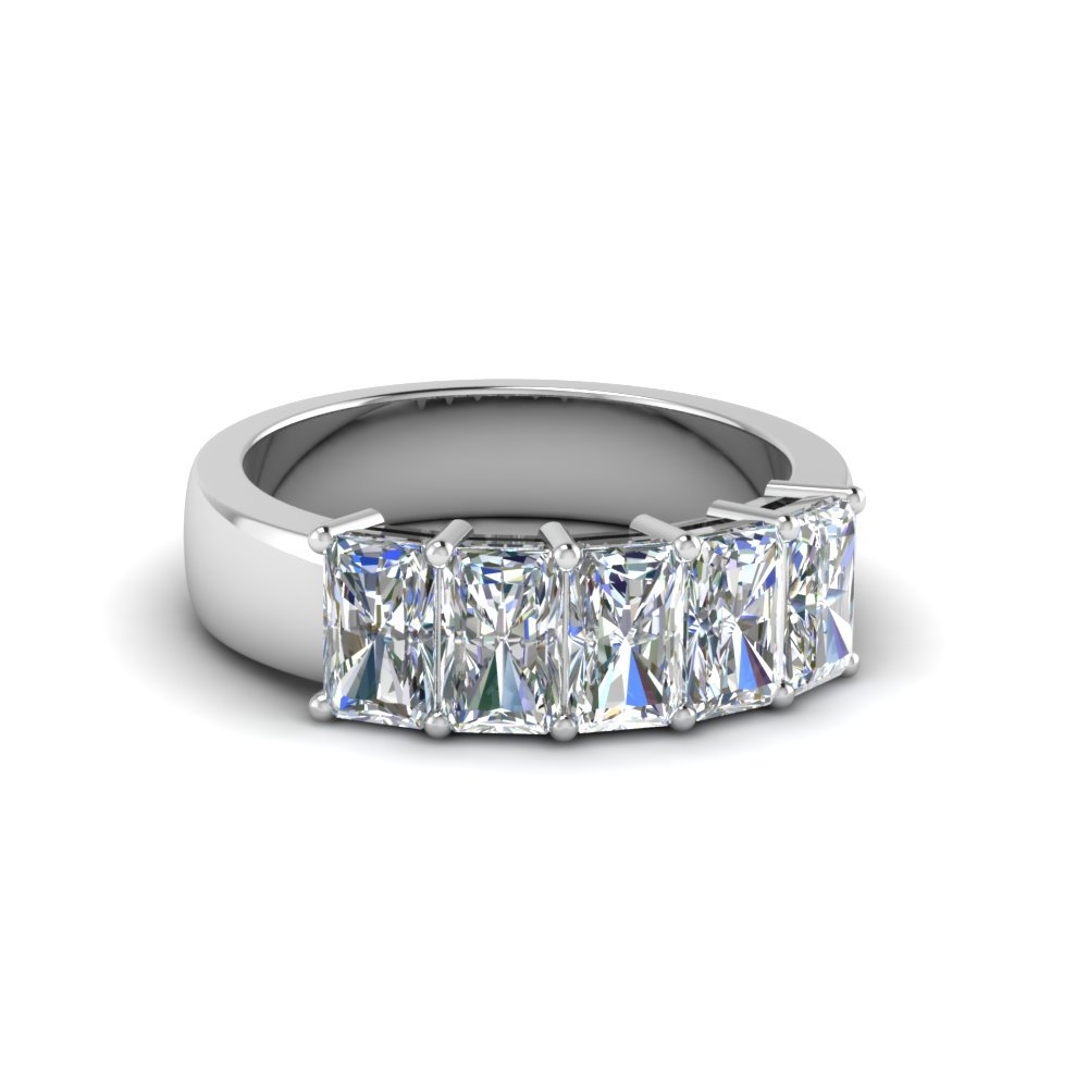 1.50 Ct. Diamond Radiant Band 5 Stone