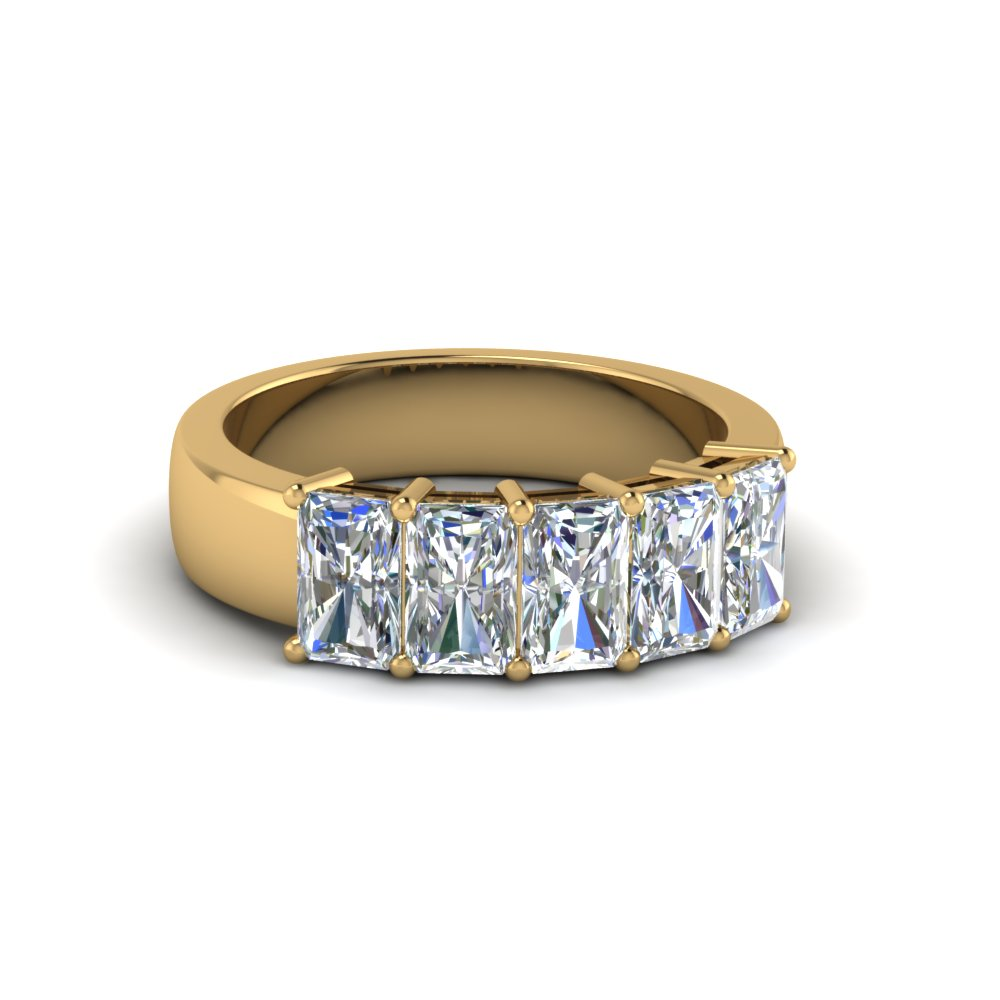 1.50 Ct. Radiant Diamond Band