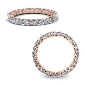 1.50 Ct. Asscher Diamond Trellis Eternity Ring In 14K Rose Gold