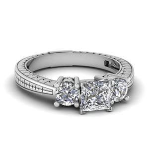 1.50 Ct. Diamond Vintage 3 Stone Ring