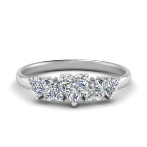 1.50 Ct. Heart Diamond Wedding Band