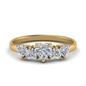 Five Heart Diamond Wedding Ring