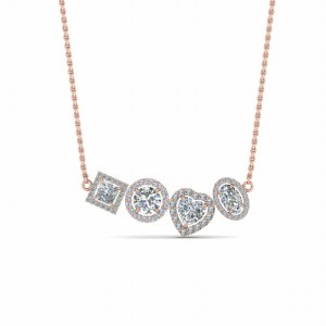 Diamond Halo Necklace Pendant