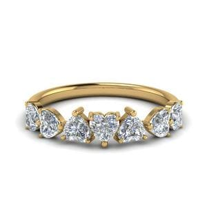 1.75 Carat Diamond Heart 7 Stone Band