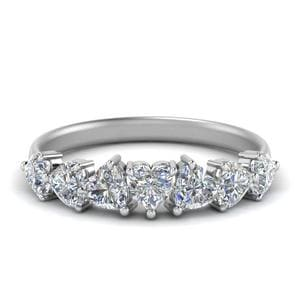 1.75 Ct. Seven Stone Heart Diamond Ring