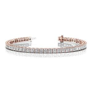 10 Ct. Diamond Tennis Bracelet In Prong Setting In 14K Rose Gold