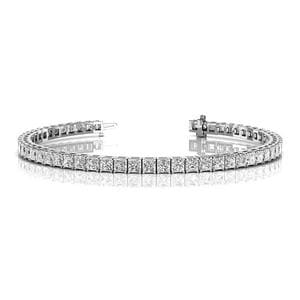 10 Ct. Diamond Tennis Bracelet In Prong Setting In 14K White Gold