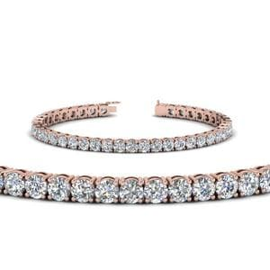 14K Rose Gold Tennis Bracelet