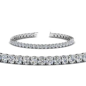 18K White Gold Tennis Bracelet