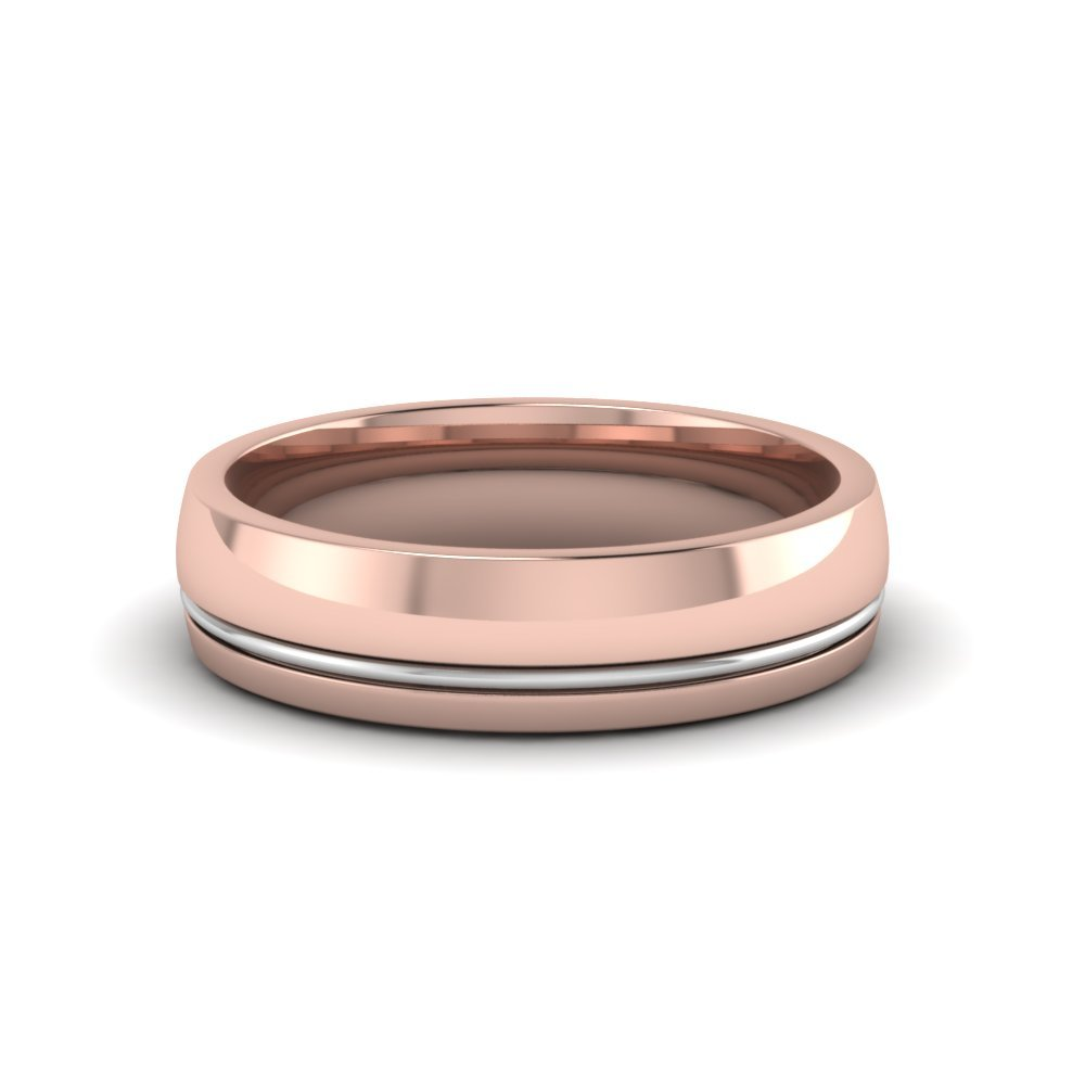 Single Rail Comfort Fit Wedding Ring
