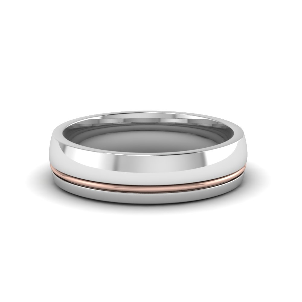 Men's Single Rail Promise Ring