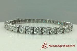 15 Ct. Round Diamond Tennis Bracelet