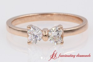 Promise Ring With Heart Diamonds