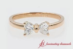 2 Stone Heart Diamond Ring